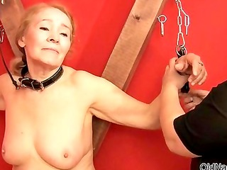 nasty old lady gets her ass spanked
