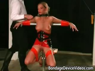 Foxy blonde babe gets bound and spanked part6