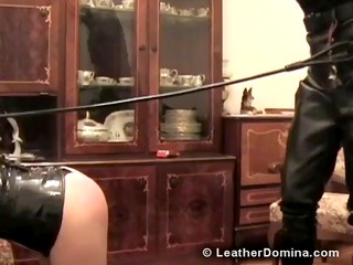 leather domina - whipping