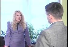 Blond slut in lingerie whipped