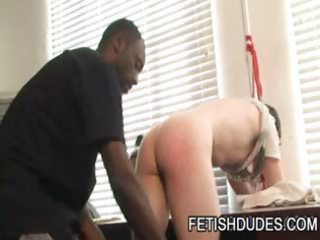 Black Dude Hot Boi Spanking His White Ass Slave Luke Cross
