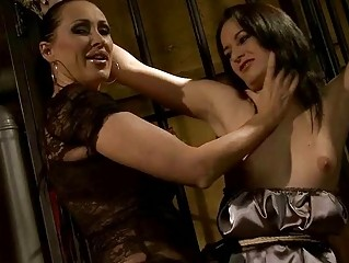 Mandy Bright punishing slavegirl