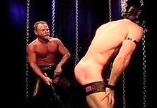 bodybuilder whipped and paddled bondage