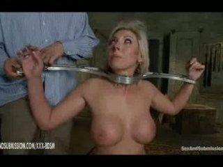Strong spanking on nice big boobs