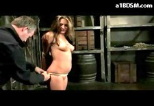 Hot Blonde Getting Tied Whipped Pussy Fingered And Stimulated With Vibrator In The Dungeon