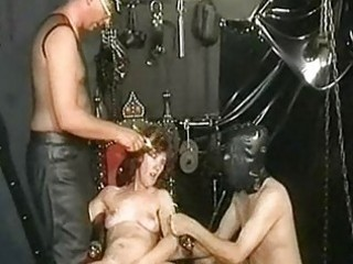 Milf slave got spanked while playing with her pussy and gets