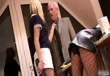 Slutty secretary hard spanked by boss\s wife