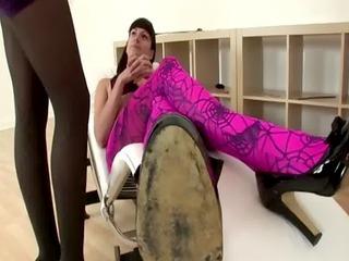 british mature lady sonia in stockings