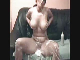 busty gal and whip cream 2