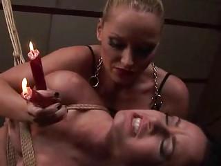 Hot mistress punishing slavegirl