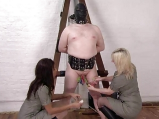 Chained, Pegged And Whipped by 2 Posh British Ladies