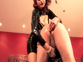 prodomme mistress giving spanking session