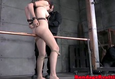 Elecfrified Ashley Lane caned by dominators