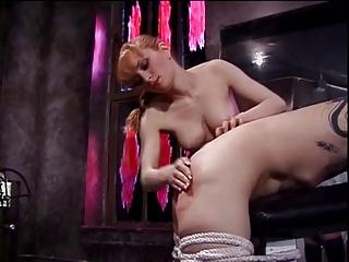 Misstress Lolita spanking her slaves ass