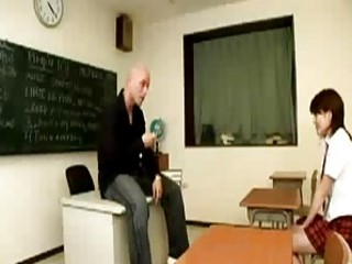 Bad girl gets spanked in the ass by her teacher