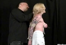 Tit tortured blondes extreme bdsm and hardcore submission of tattooed