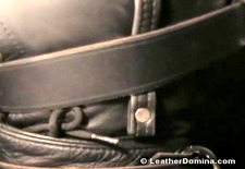 The Leather Domina - Leather Bondage - Whipping