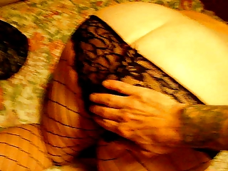 Amature BBW Spanked and fingered