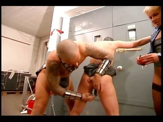 dominant couple punishes a slave girl