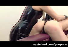 severe femdom spanks and torments female submissive