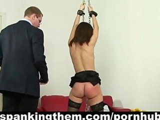 Punished and spanked by her boss