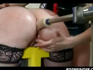 Lezdom Spank And Machine In The Ass