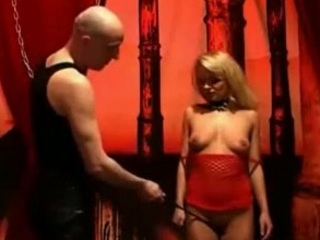 Hot Blonde Submissive Babe Whipped by Her Master