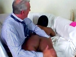 old spanking black ass