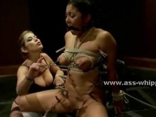 Delicious college babe punished