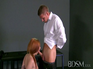 bdsm xxx master gives young sub her first real domination ex