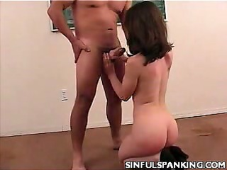 sexy babe take ass spanking