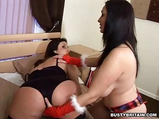 Santa Michelle Punishes Bad Girl Jenny