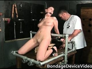 Kinky brunette slut is bound and spanked part4
