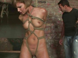 Gorgeous sex slave gets punished