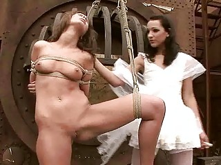 Young mistress punishing hot girl pretty hard