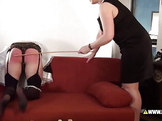 Lena K punishes the male maid
