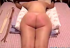 caning my naughty wife a red soar ass