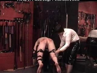 Slave punishment in bondage