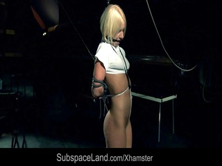 tempting blonde punished and played in subdungeon