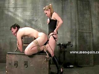 boobs jumping when slut is spanking man