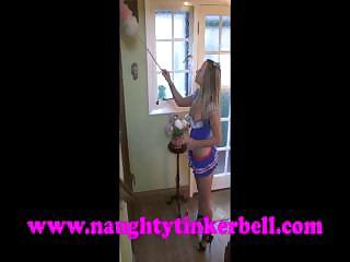 Naughty Tinkerbell Pussy, Clit, Nipple Pumping Punishment !
