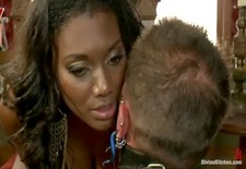 Divine Bitches: Black Mistress Nyomi Banxxx Punishes Her Slave