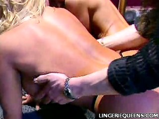 blonde bend over to get spanked