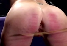 strong femdom bitch spanking and butt pegging sub