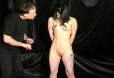 Teen Amateur Slavegirl Punishment of slim submissive Pixie