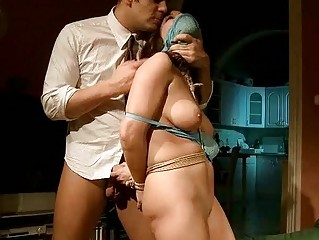 Busty beauty gets bondaged and punished