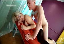 nasty blonde hoe gets spanked