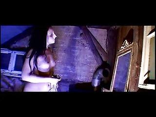 nun whips herself while she masturbates