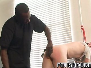 Black dude hot boi spanking his white ass bondage slave luke cross