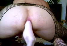 anus dildo stretching and ass spanking fun